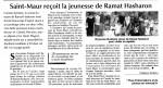 Le jumelage entre Saint Maur et Ramat Hasharon vu par Actualité Juive