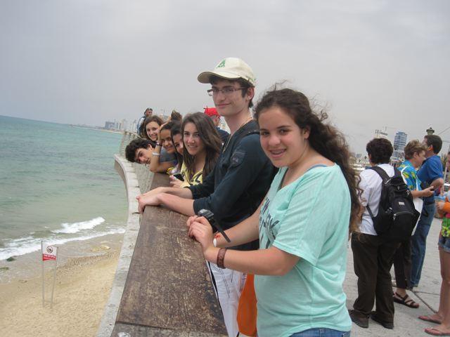AU dessus du port de Jaffa