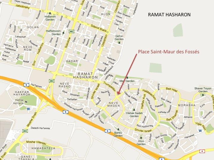 Inauguration de la place saint maur ramat hasharon for Garage place des marronniers saint maur